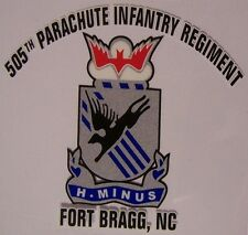 Window Bumper Sticker Military Army 505th Parachute Infantry Regiment NEW Decal