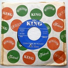 CHARLES BROWN r&b 45 CHRISTMAS IN HEAVEN / It's Christmas All Year 'Round  F1239