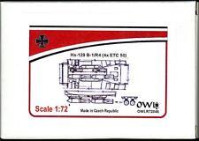 Owl Decals 1/72 Set of 4 ETC-50 BOMB RACKS for the Henschel Hs-129 Resin Kit