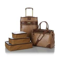 Samantha Brown 5-piece Classic Luggage Set-CARAMEL-NWT