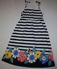 New Gymboree Floral Striped Midi Dress Size 5 year NWT Tropical Breeze Line