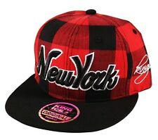 K I Headwear LUMBERJACK New York NY Snapback Check Snap Back Cap Hat