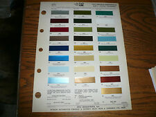 1975 Lincoln Continental Mark IV Pantera T-Bird Ditzler PPG Color Chip Paint  -