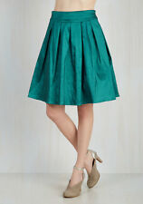 Modcloth Party PLanner Extraordinaire skirt Teal NWT M Teal shimmery
