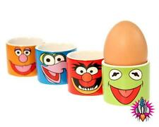 BRAND NEW SET OF 4 THE MUPPETS MOVIE EGG CUPS KERMIT ANIMAL GOZMO FOZZIE