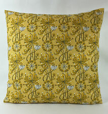 "St Jude's Dandelion One  - Sage Yellow Cushion Cover  - By Angie Lewin 17""x17"""