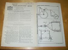 BICYCLE & MOTOR CYCLE TRAILER FRAMEWORK PATENT. THOMAS, BARNET, HERTS. 1930