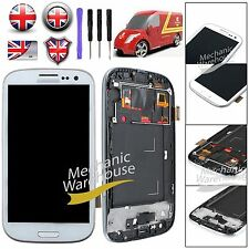 For Samsung Galaxy S3 i9300 LCD Digitizer Touch Screen Display Frame +Tool White