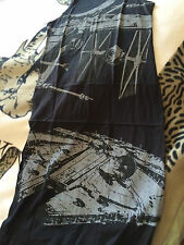 Star wars ships  Millennium Falcon, Tie fighter and X wing,  XL maxi dress