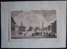 1831 GAIS APPENZELL aquatinta Johann Gottfried Ebel Schweiz Bezirk Mittelland