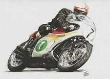 Mike Hailwood Honda 250/6 Motorbike Motorcycle Racing Birthday Card