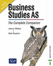 OCR Business Studies AS - The Complete Companion, Jenny Wales, Neil Reaich, New