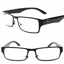 Fashion Casual Nerd Clear Lens Black Men's Women's Eye Glasses Rx Frames