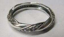 Authentic Pandora Ribbon Of Love Ring Size 7 1/2 Item 190981CZ