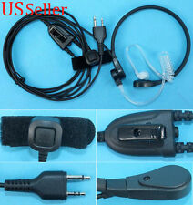 Throat Mic Headset For Midland Walkie Talkie Finger PTT