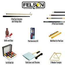 Felson Billiard Pool Table Accessories Set Kit 32 Piece Deluxe Pro Series Balls