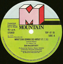 PROMO Dan McCafferty - What'Cha Gonna Do About It / Boots Of Spanish Leather 12""