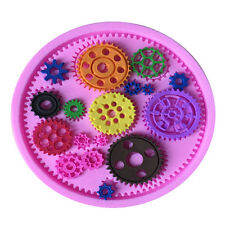 Steampunk Gears Cog Silicone Cake mould Fondant Sugarcraft