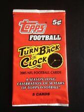 2005 Topps Turn Back The Clock Football Cards Factory Sealed PACK 5 Cards