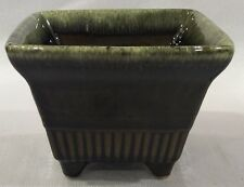 VINTAGE HULL USA ART POTTERY A2 BROWN TO SAGE GREEN DRIP PLANTER VASE