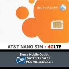 AT&T NANO SIM CARD NEW SKU: 4FF iPhone 5/6  Go Phone or Contract OEM ATT GENUINE