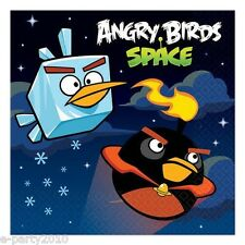 ANGRY BIRDS SPACE SMALL NAPKINS (16) ~ Birthday Party Supplies Cake Dessert Game
