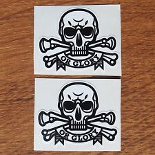 Two Motorcycle Biker Helmet Cafe Racer Ton Up Boys Stickers Death or Glory