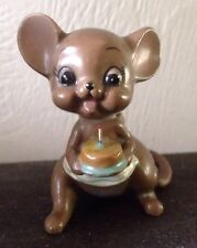 Josef Originals Mouse With Birthday Cake 1970s Excellent Condition!