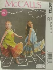 M6732 New McCall's Easy Girls Fashion Sewing Patterns For Sizes 2, 3, 4, 5