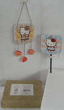 HELLO KITTY GARDEN COLLECTION ROSE HANGING SIGN & STAKE SET FREE USA SHIPPING