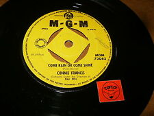 CONNIE FRANCIS - COME RAIN OR COME SHINE - ROBOT MAN - LISTEN / GIRL ROCK