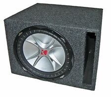 "Kicker 12"" 800W,4Ω Santoprene Single Subwoofer & Enclosure! Aluminum,Comp CVR124"