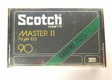 Vintage 1977 Scotch Master II 90 Chrome Blank Audio Cassette 90 Min Sealed Tape