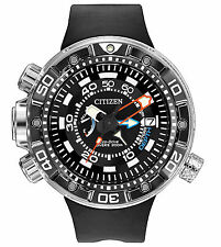 New Citizen Eco-Drive Promaster Aqualand Depth Meter Men's Watch BN2029-01E