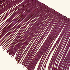 """CLEARANCE!  BTY  6"""" Deep Magenta Polyester Chainette Fringe Trim   W-001-1y"""