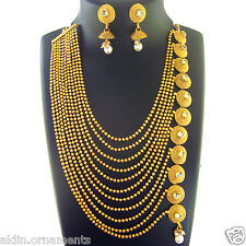 Indian Ethnic Jewelry Necklace Bridal Gold Traditional New Fashion Bollywood Set