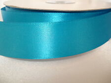 MALIBU TURQUOISE  50 YD ROLL DOUBLE FACE SATIN RIBBON 1""
