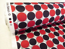 by METRE MOD dot SPOTS RED GEOMETRIC vintage mid century retro 1960s 60s FABRIC