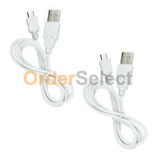 2 USB White Charger Data Cable for Blackberry HTC LG Motorola Samsung Phones