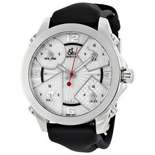 Jacob and Co. Five Time Zones Silver Dial Mens Watch JCM-3