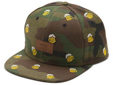 Vans Off The Wall Men's Allover It Beer Camo Camouflage Snapback Hat Cap - Camo