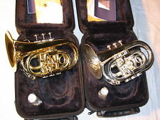 New Wisemann Large Bell Pocket Trumpet DPT-400SP SILVER with Case and MP