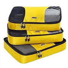 NEW eBags Large Packing Cubes - 3pc Set (Canary)