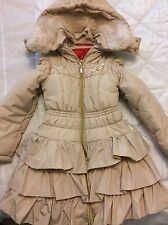 Girls S & D Le chic Designer Winter Jacket Nude Tan Age 8 Size 128