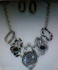 NEW!   ZEBRA PRINT  NECKLACE AND EARRING SET