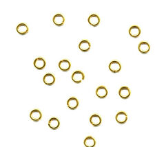 20 GOLD VERMEIL 3mm open jumprings jump rings