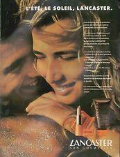 ▬► PUBLICITE ADVERTISING AD LANCASTER Produit de Beauté Rouge à Lèvres 1992