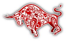 "Red Ox Chinese Horoscope Car Bumper Sticker Decal 5"" x 3"""
