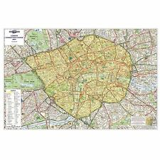 London Congestion Charge Laminated Wall Map For Business