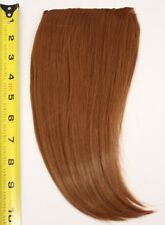 10'' Long Clip on Bangs Auburn Brown Cosplay Wig Hair Extension Accessory NEW